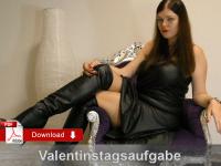 Valentinstag Sklavenaufgabe für vergebene Sklaven